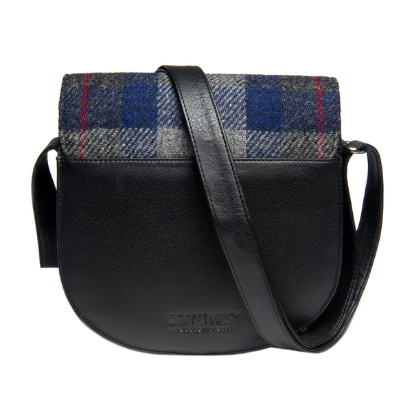 Harris Tweed Small Cross Body Bag- Blue & Pink Check
