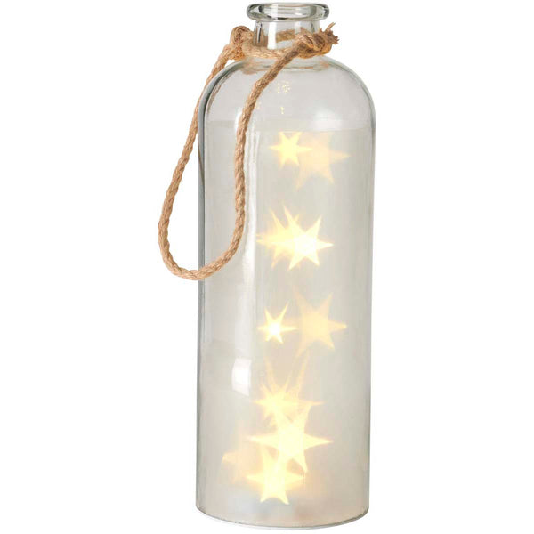 Giant LED Stars In A Bottle, Clear