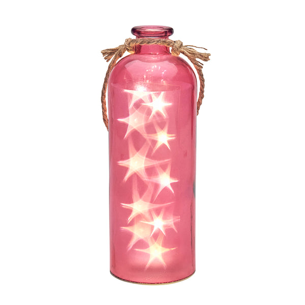 Giant LED Stars In A Bottle, Fuchsia