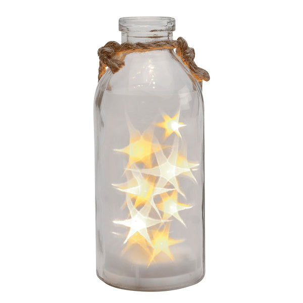 Not So Giant LED Stars In A Bottle, Clear