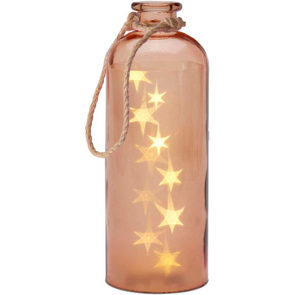 Giant LED Stars In A Bottle, Pale Coral