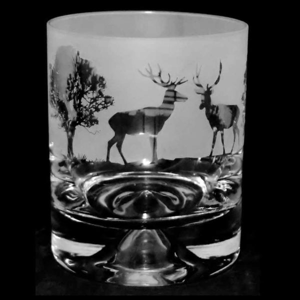 Woodland Scene Whisky Glass
