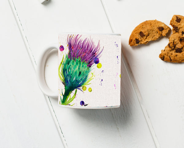 Thistle Water Colour Mug