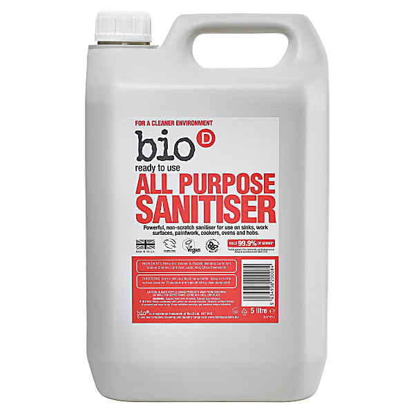 Bio-D,  Ready To Use All Purpose Sanitiser- 5ltr
