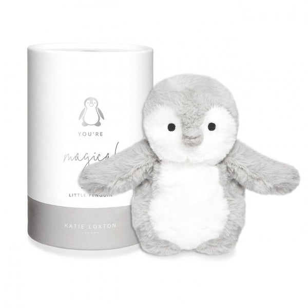 Penguin Baby Soft Toy, Grey