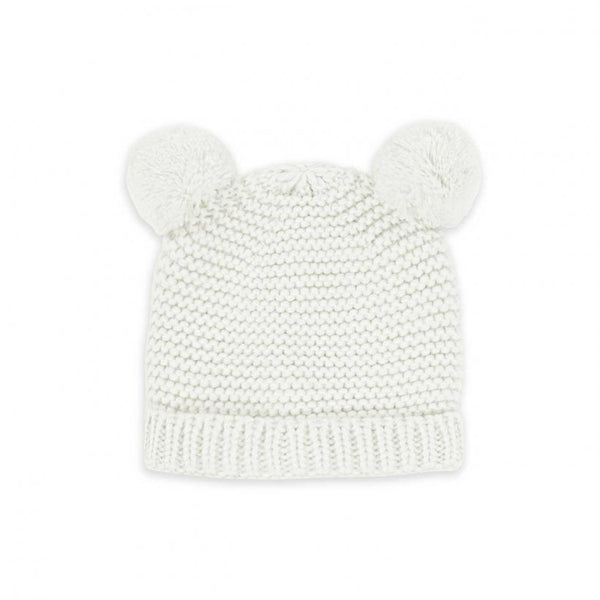Baby Hat and Mittens Set 0-6 Months, White