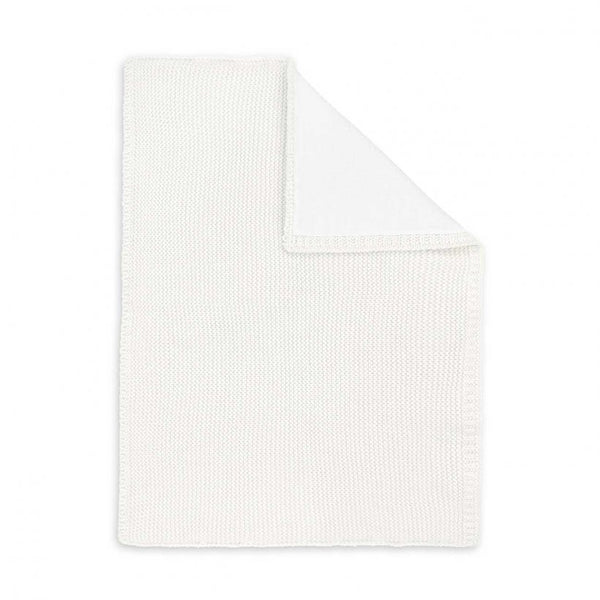Cotton Knitted Baby Blanket, White