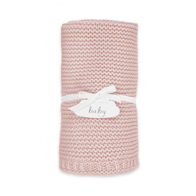 Cotton Knitted Baby Blanket, Pink