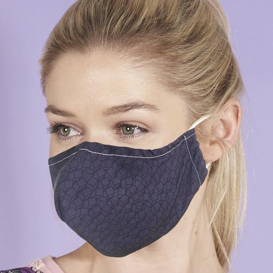 Eco Chic Face Covering - Black Cube