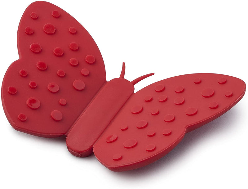 Butterfly Silicone Hot Grip - Red