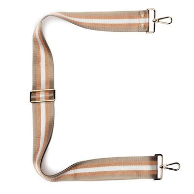 Champagne Stripes Crossbody Extra Strap