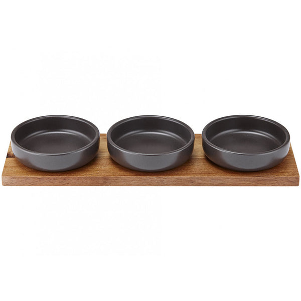 Bowl And Tray Set, Charcoal