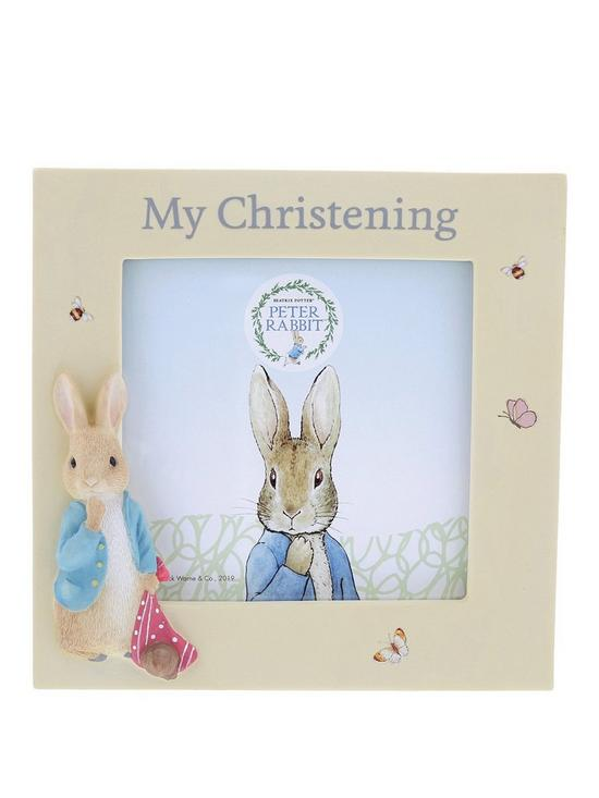 Peter Rabbit Christening Frame