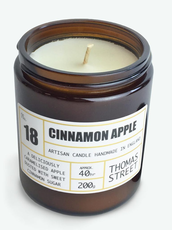 Cinnamon Apple Glass Candle- 220g