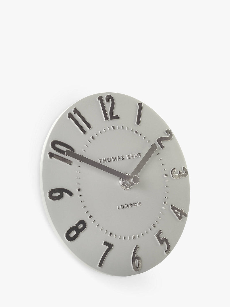 "6"" Mulberry Mantel Clock - Silver Cloud"