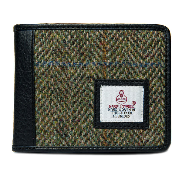 Harris Tweed Bifold Wallet- Country Green