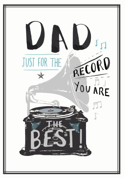 Dad Just For The Record You Are The Best Card
