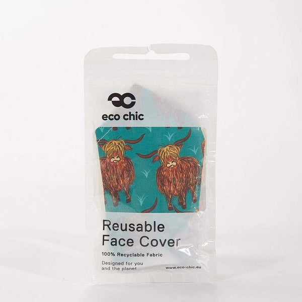 Eco Chic Face Covering - Highland Cows