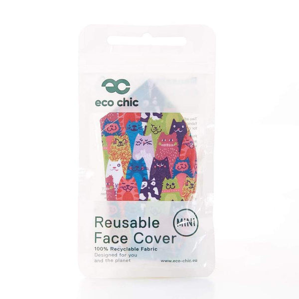 Eco Chic Mini Reusable Face Cover - Cats