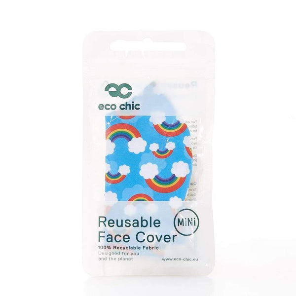 Eco Chic Mini Reusable Face Cover - Rainbow