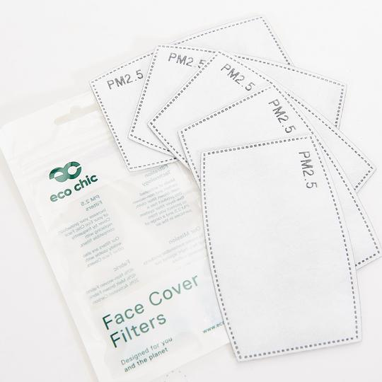Eco Chic Face Cover Filters - 5 Pack