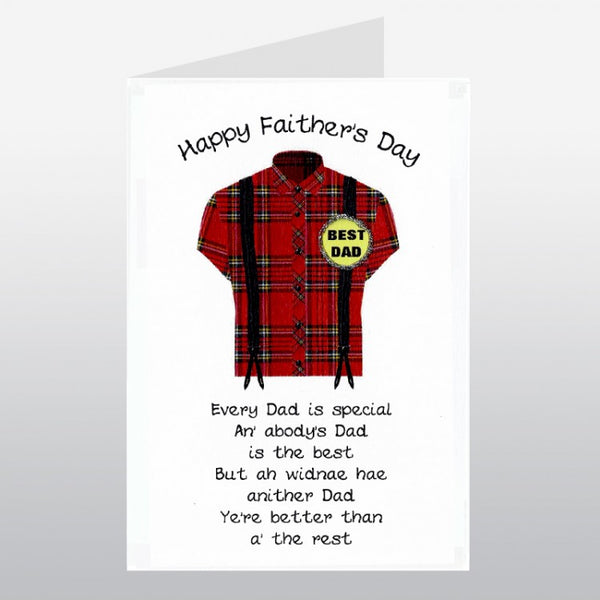 Happy Faither's Day Card