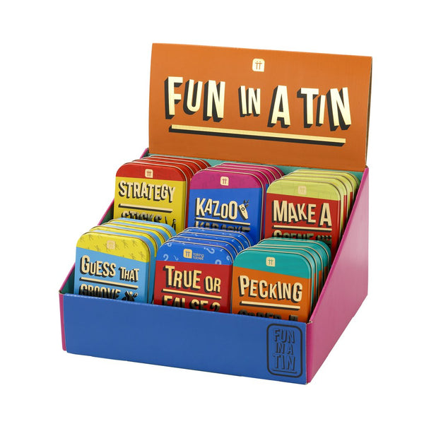 Fun In A Tin, Games, Quizzes & Challenges