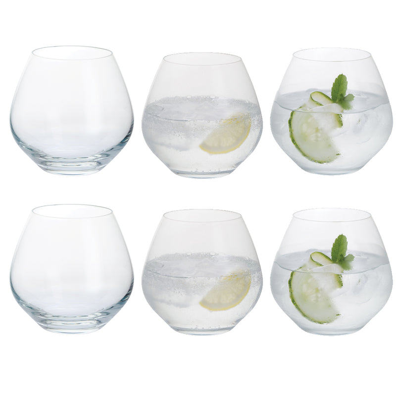 Stemless Gin Copa Glasses