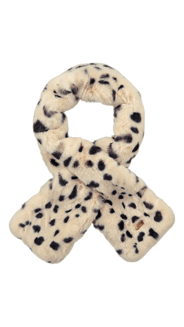 Warm Faux Fur Holly Scarf - Black & White