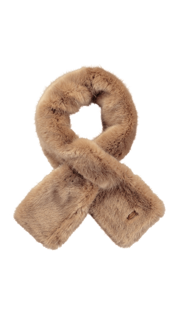 Warm Faux Fur Holly Scarf- Brown