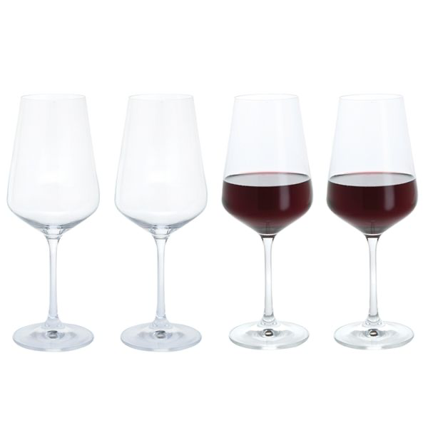 Box of 4 Red Wine Glasses