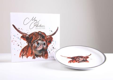 Round Plate - Highland Cow