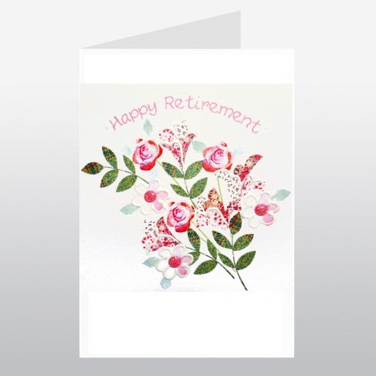 Floral Bouquet Retirement Card