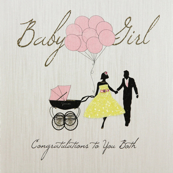 Baby Girl Congratulations To You Both Card