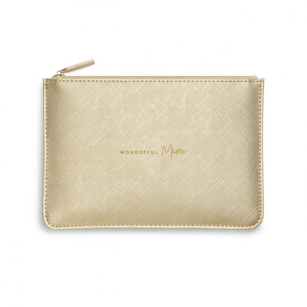 Wonderful Mum, Metallic Gold Pouch