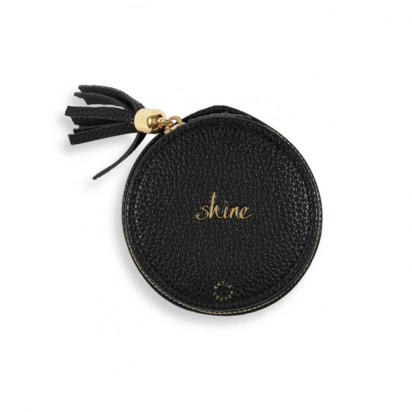 Tassel Small Circle Jewellery Box, Shine, Black