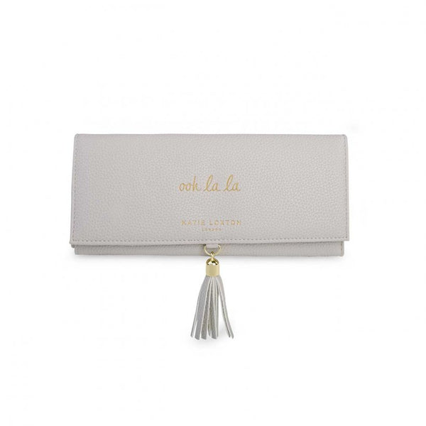 Tassel Jewellery Roll, Ooh La La, Grey