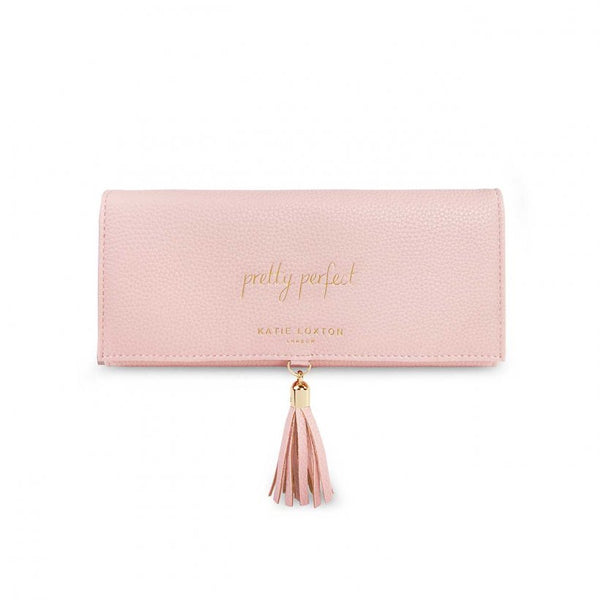 Tassel Jewellery Roll ,Pretty Perfect, Blush Pink