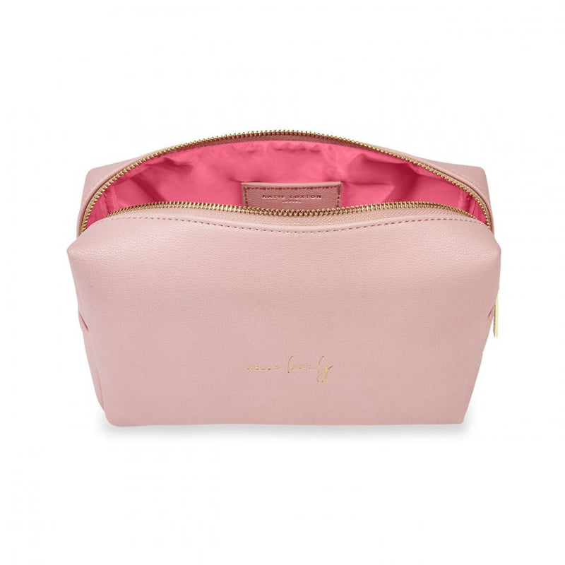 Hello Lovely Wash Bag - Pale Pink