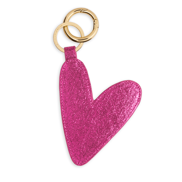 Luxe Heart Keyring In Sugar Berry