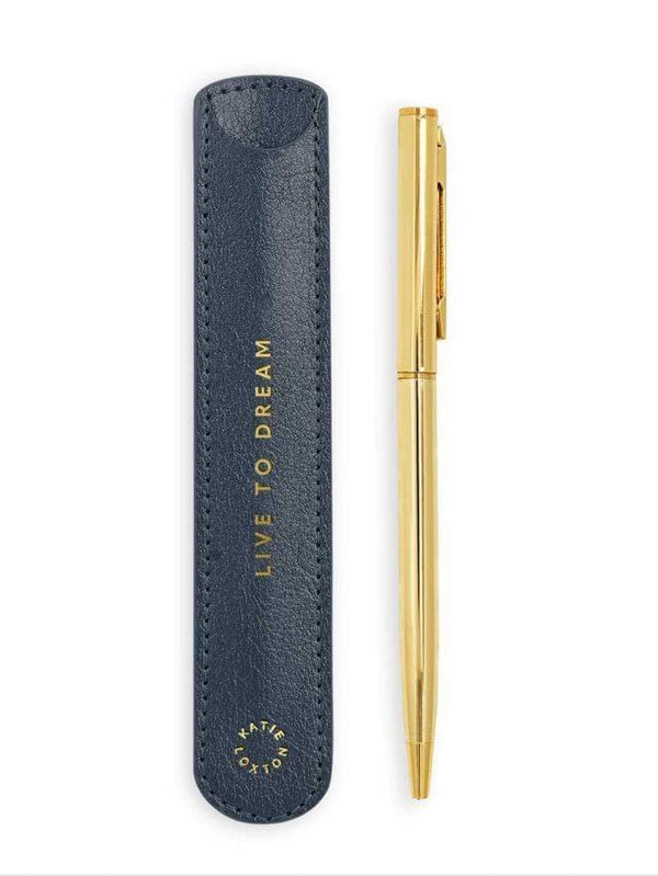 Live To Dream Pen With Metallic Navy Sleeve
