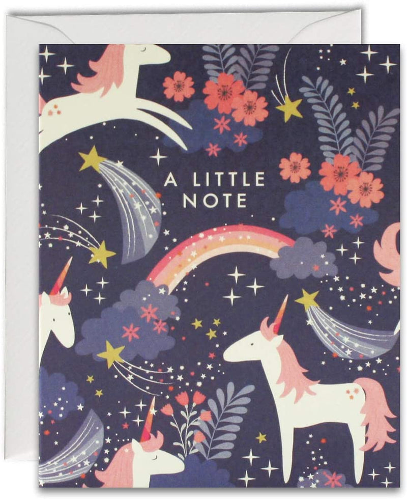 "Pack of 5 ""A Little Note"" Unicorn Cards"