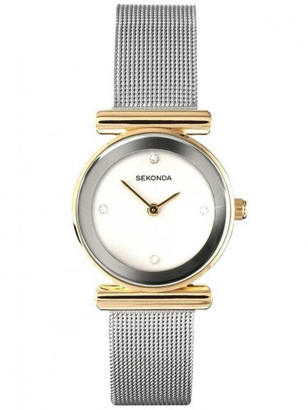Women's Two Tone Mesh Watch