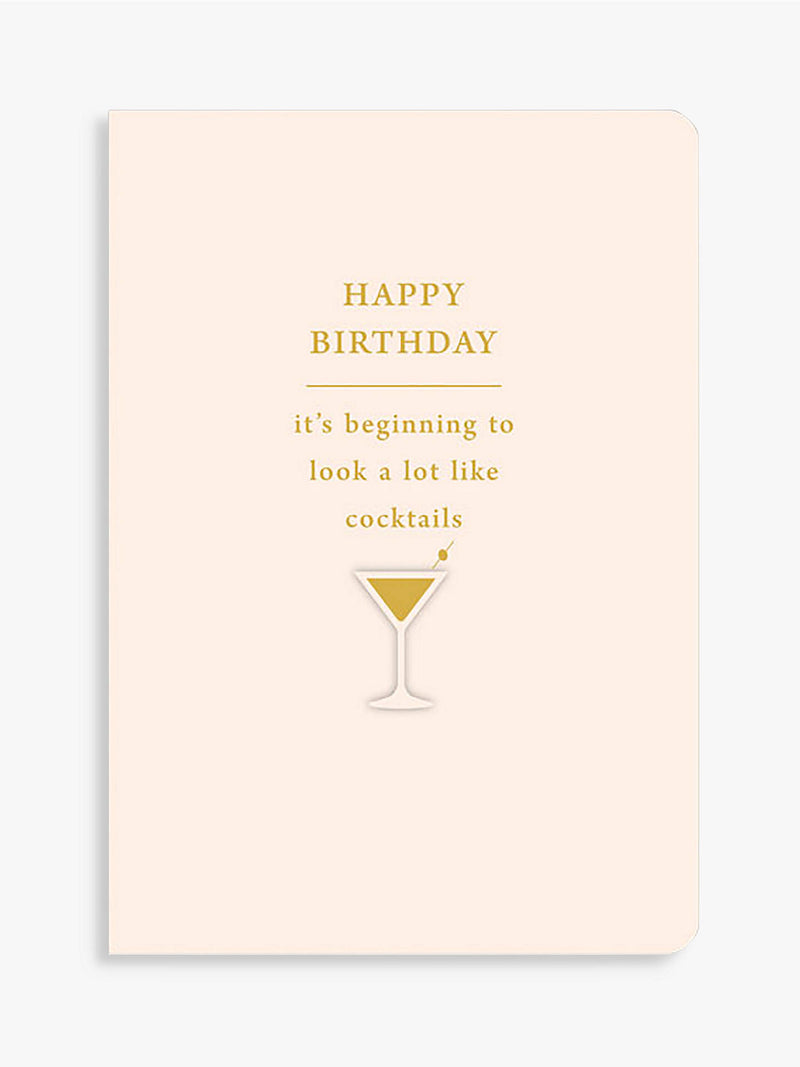 Happy Birthday Cocktails Card