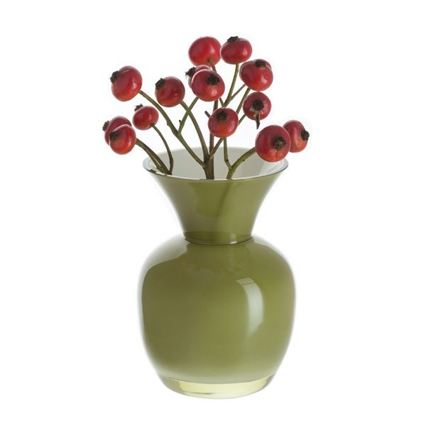 Little Treasures Olive & White Vase