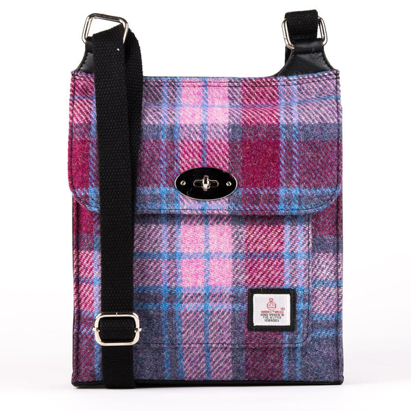 Harris Tweed Satchel Bag - Pastel Pink