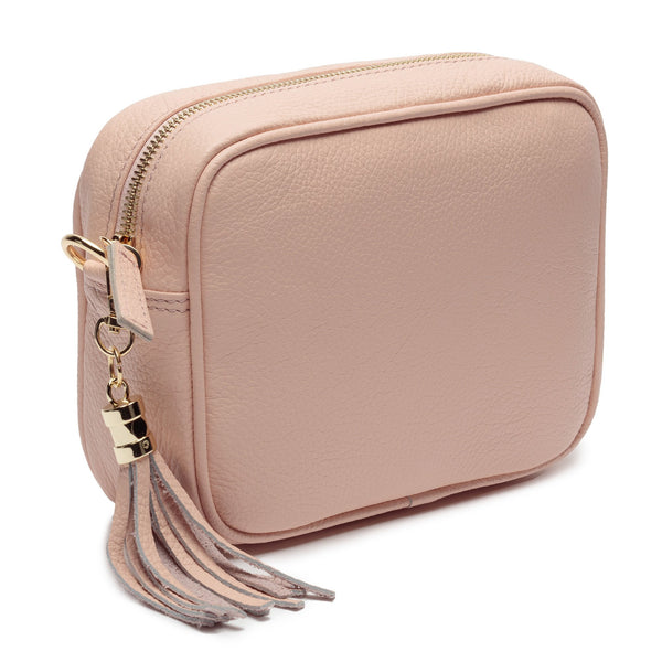 Pink Leather Handbag With Pink Camouflage Strap