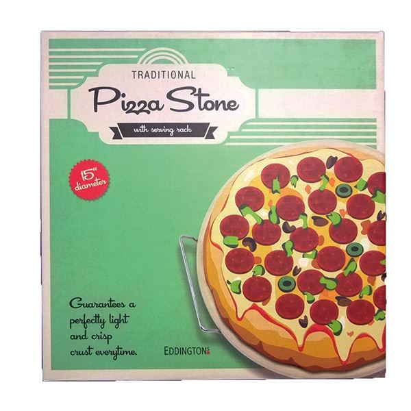 Traditional Pizza Stone With Serving Rack