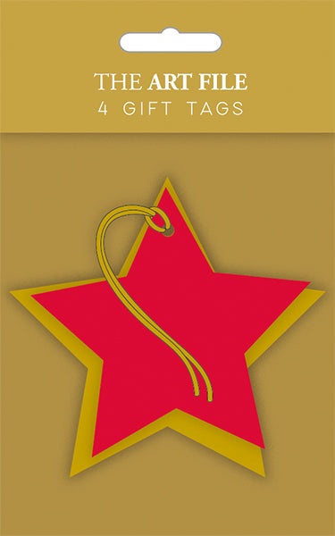 Star Gift Tags- Pack Of 4