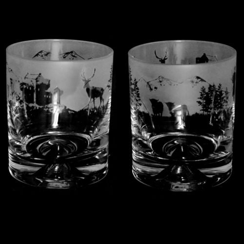 Scottish Scene Whisky Glass